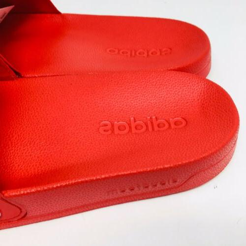 *NEW* Shower Slide Scarlet Red And White Slippers