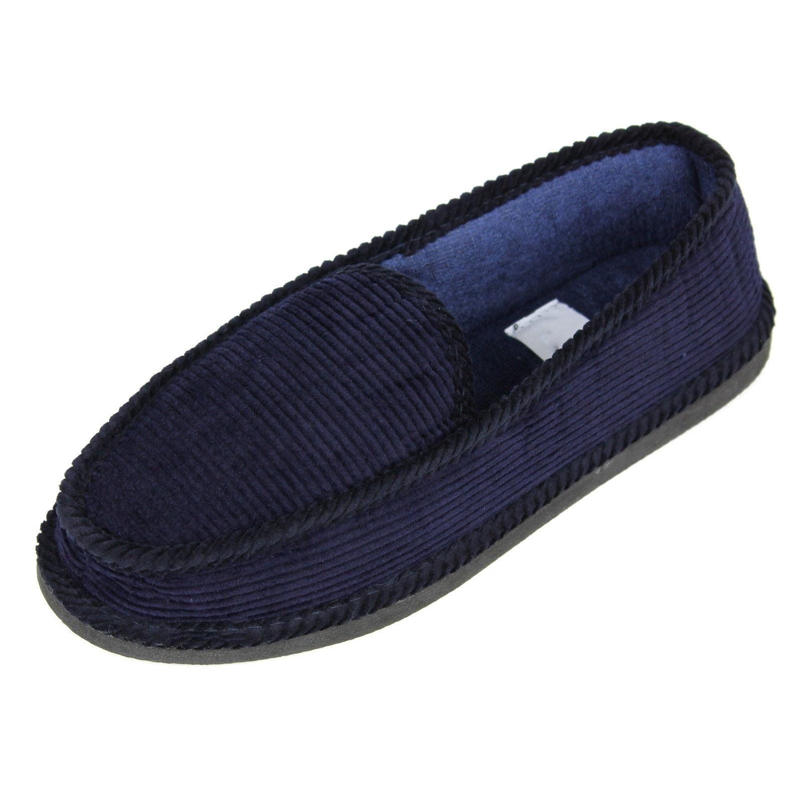 New Slippers Corduroy Moccasin Slip-on Men Shoes