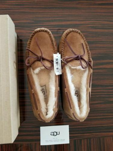 NEW Moccasin Slippers 7 Rubber