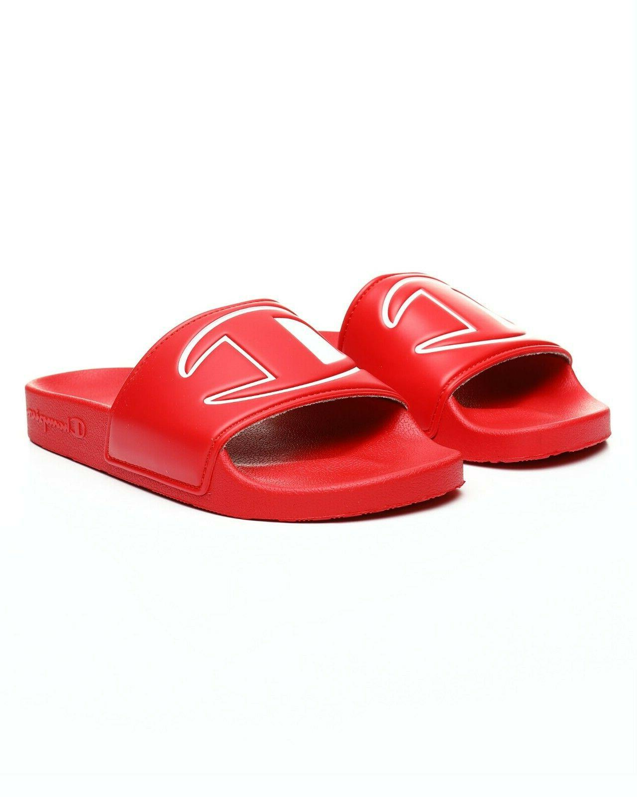 new women s ipo slide slippers red