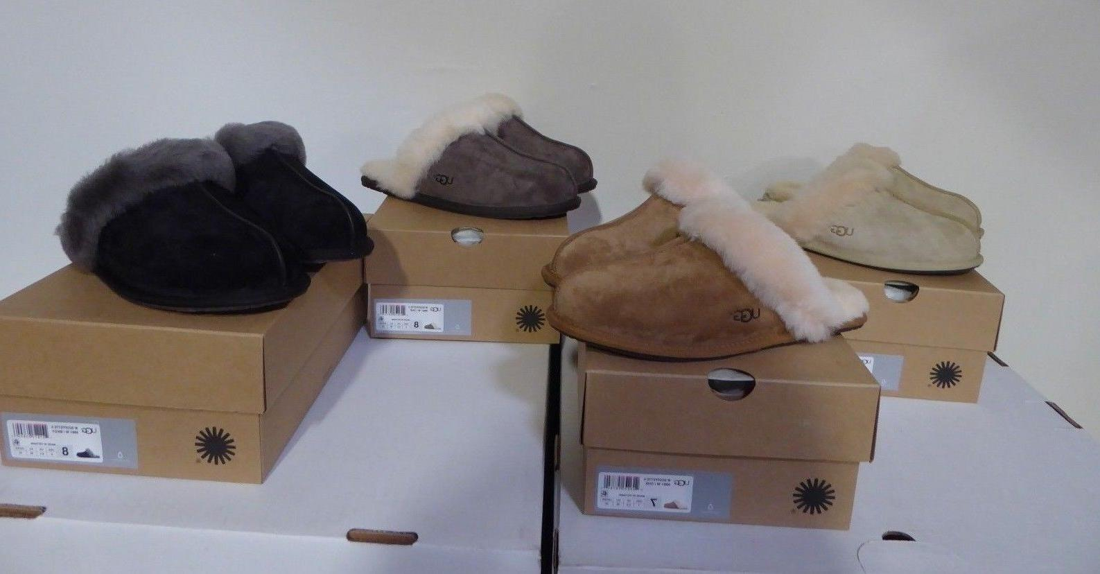NEW- WOMEN'S UGG SCUFFETTE II SLIPPERS ASST SIZE & COLORS  S