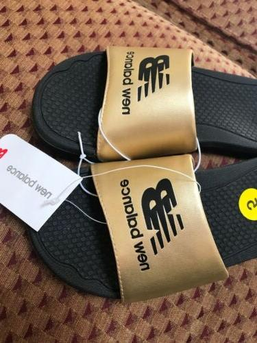 nwt womens pro slide sandals slippers gold