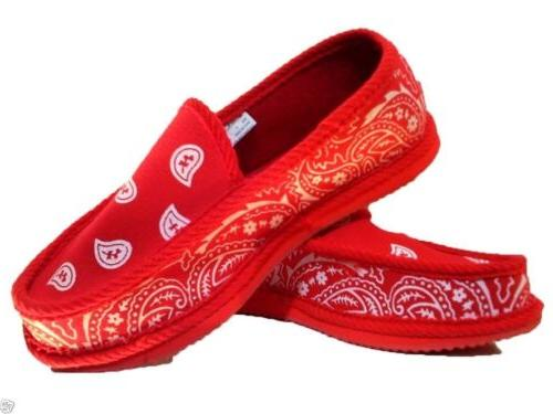 red bandana house shoes slippers trooper brand