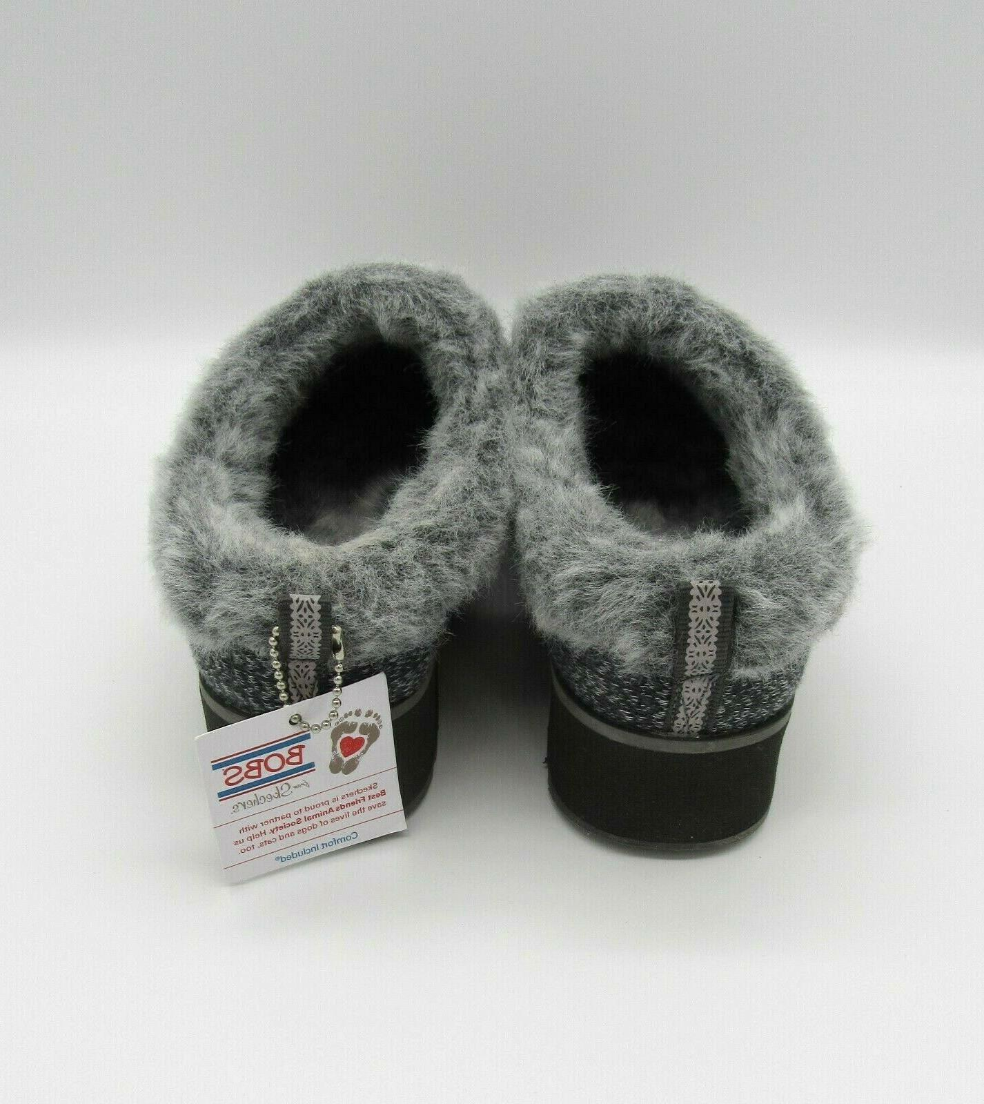 BOBS by 6 Charcoal Fur Slip On