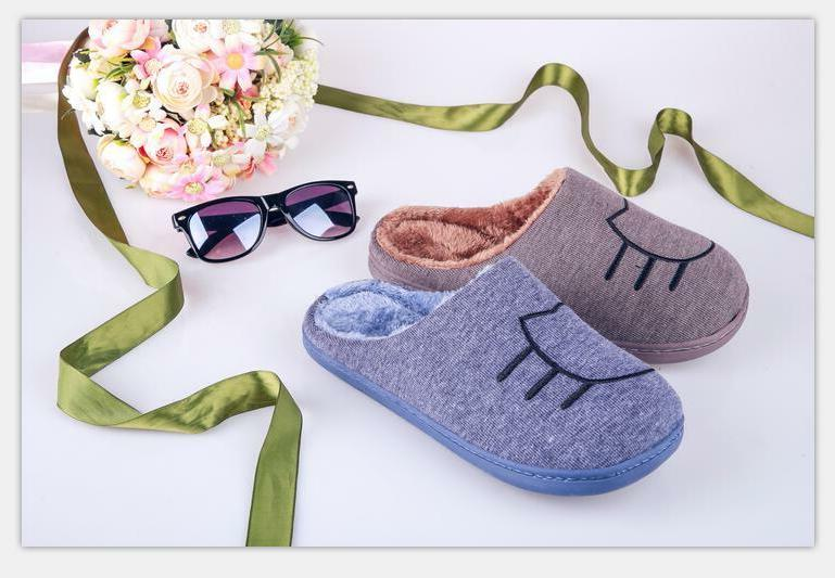 Slippers Men Shoes Indoor Warm Mens Family Free