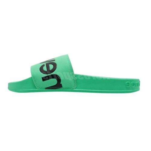 Green Black Men Sports Sandals Slides Slippers