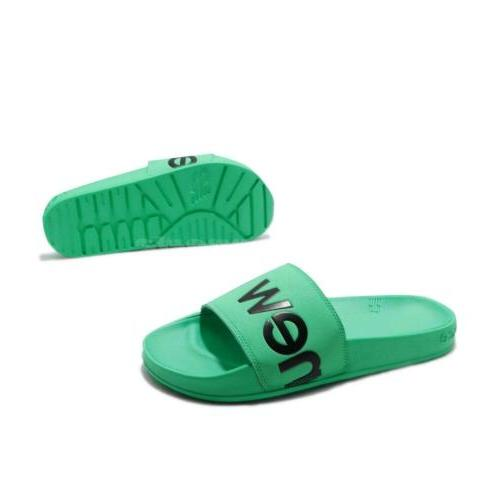 New SMF200E1 D Green Men Sports Sandals Slides SMF200E1D