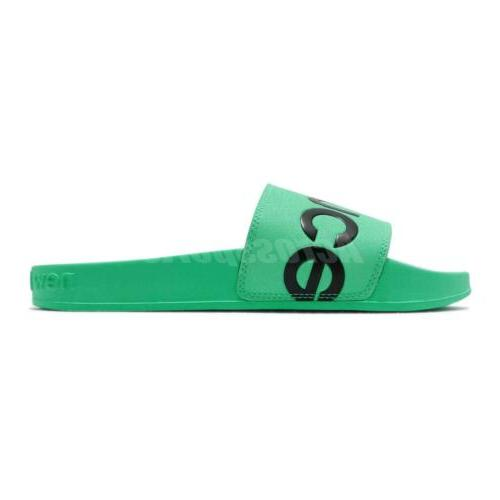 New Balance Green Sandals Slides