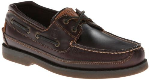 Sperry Top-Sider Men's Mako 2-Eye Canoe Moc, Amaretto, 10% o