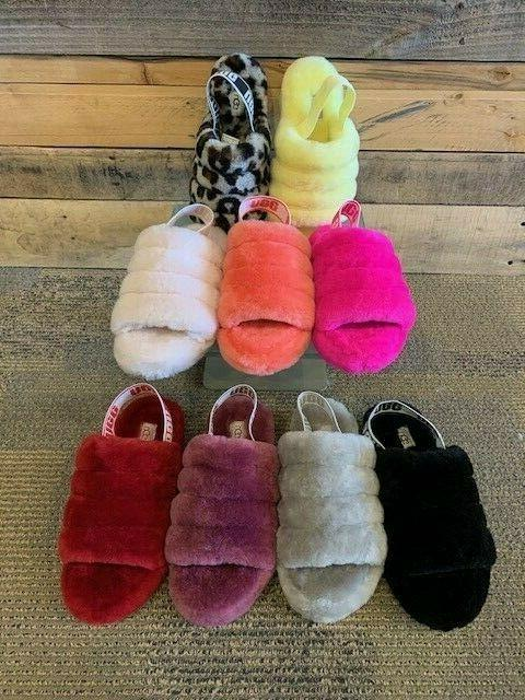 ugg fluff yeah slippers slides shoes pick