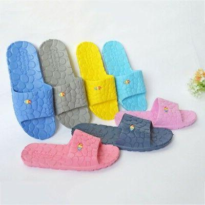 Unisex Non Slip Bathroom Slippers Shower Shoes Indoor Anti-S