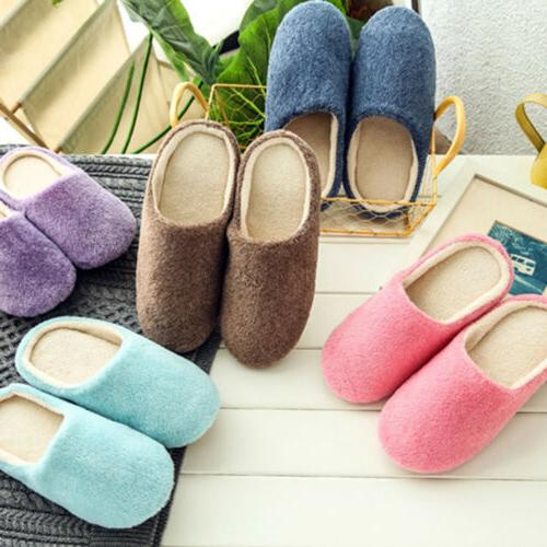 US Womens Warm Slip Sole Home Shoes