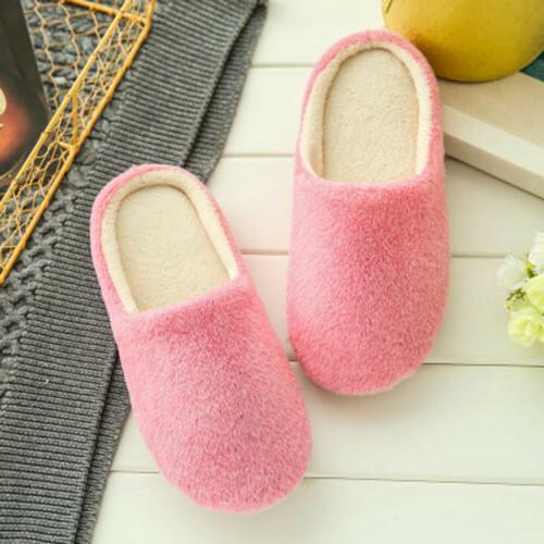Warm Soft Plush Non Slip Sole Slippers Shoes Size