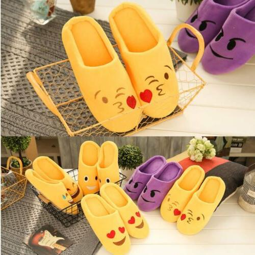 Winter Warm Emoji Cute Unisex Slippers Home Indoor Shoes Car