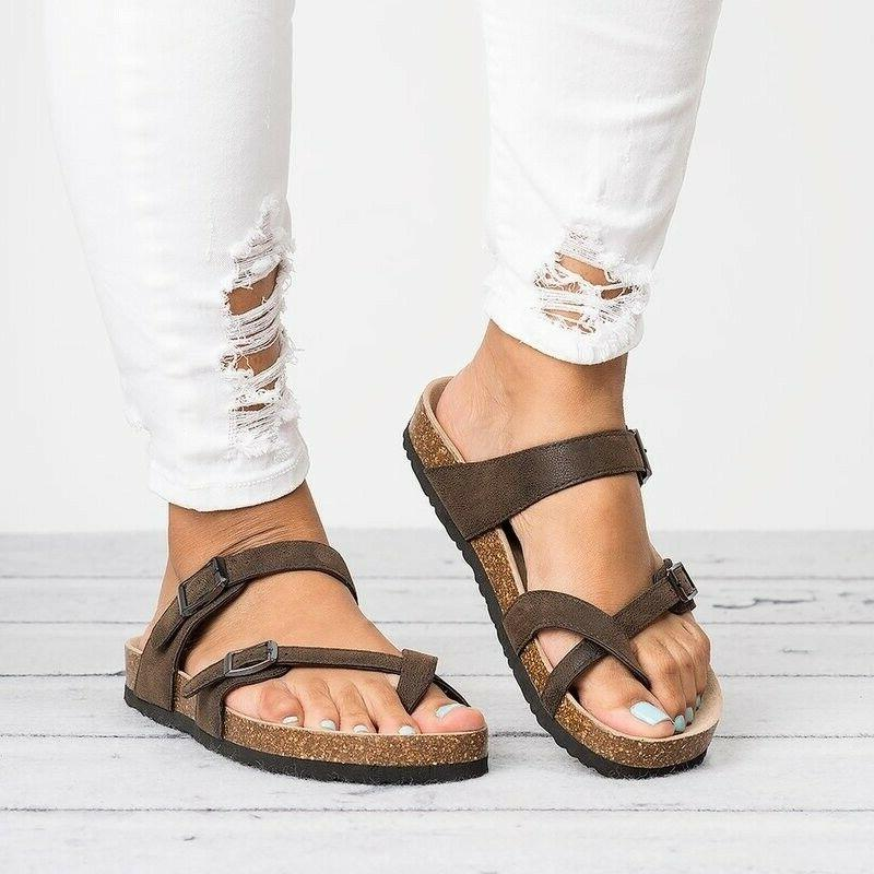 USA Post Sandals Flops Platform Casual Flat Slippers Shoes
