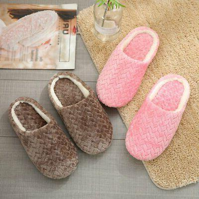 Ladies Womens Memory Slippers House Slip Comfy Home Size