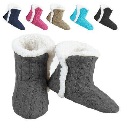women s cable knit slippers house booties