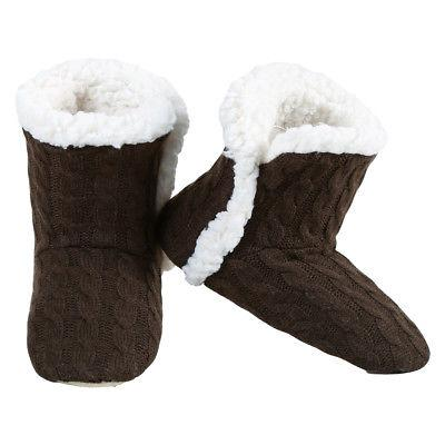 Yelete Cable Knit Slippers Sherpa