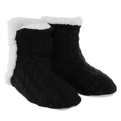 Yelete Women's Cable Slippers House Sherpa