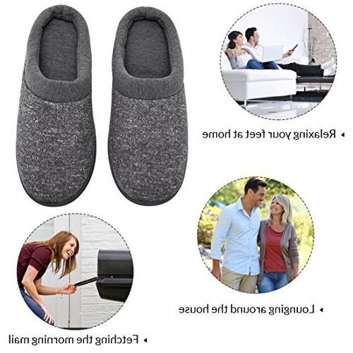 Women's Comfort Slip On Memory Lining Indoor House Slippers US, Light