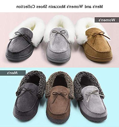 HomeIdeas Lined Suede House Slippers, Winter