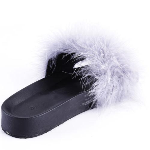 Open Sandals Feather