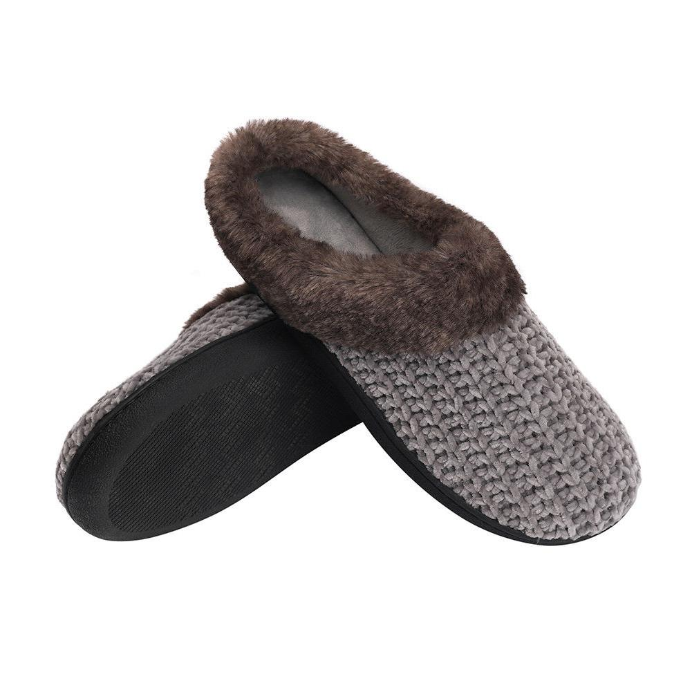 Women's Slippers Knitted Memory Home Shoes
