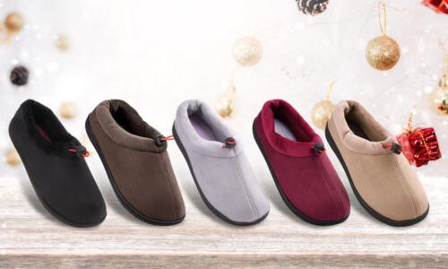 Women's Suede Slippers House Shoes