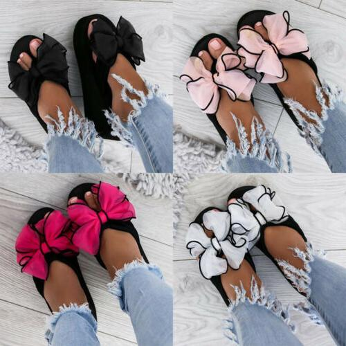 Women's Platform Ladies Slippers Casual Bow US