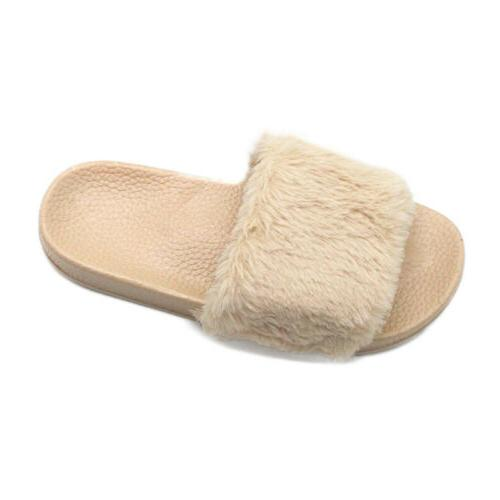 Womens Casual Slides Slippers House Heel On Shoes