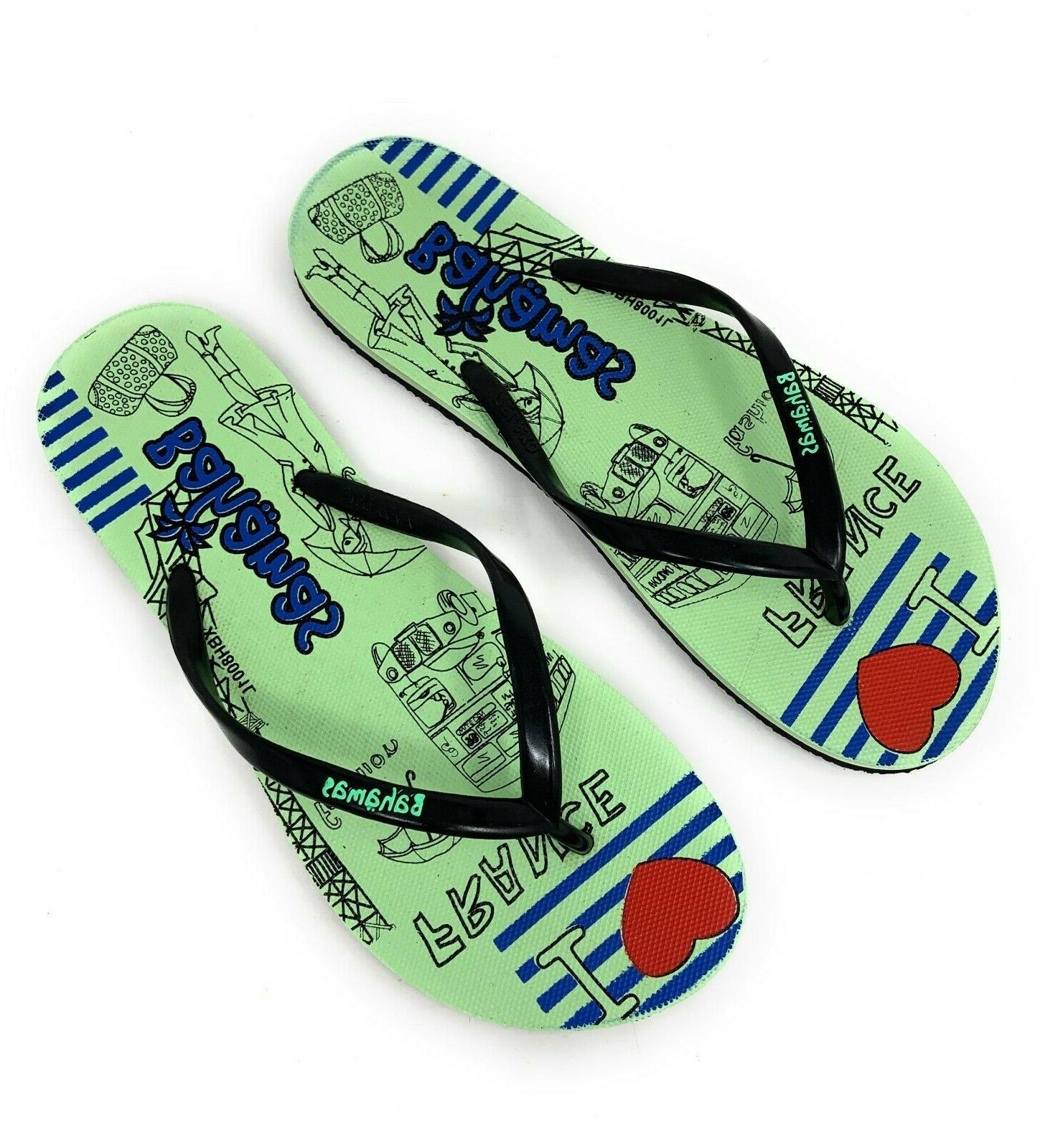 Bahamas Womens Flip Premium Slippers Beach Pool