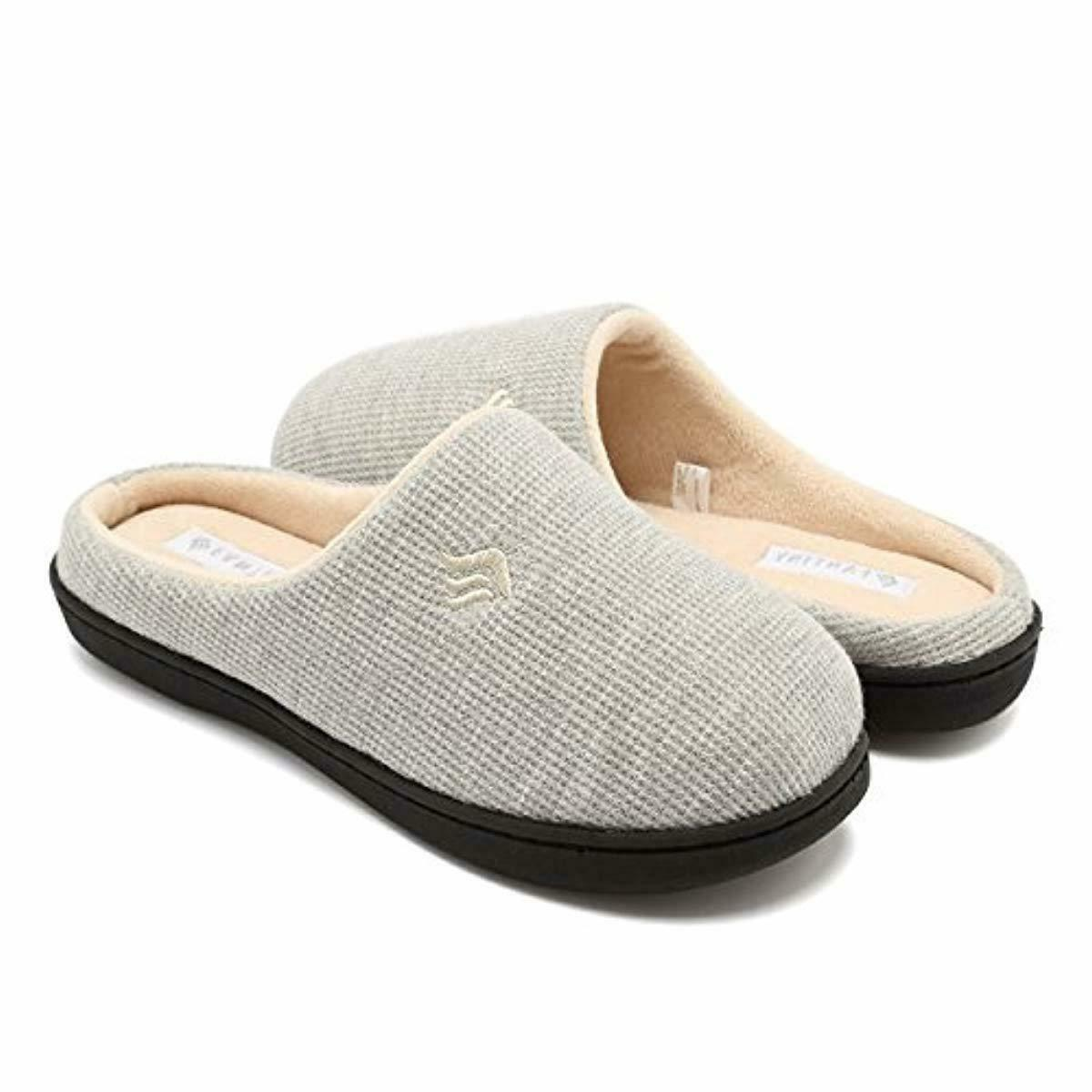 womens memory foam slippers slip on clog