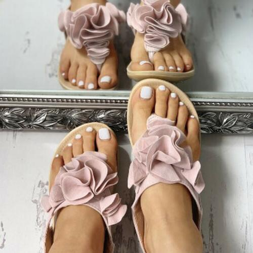 Womens Ruffle Sandals Slippers Slider Shoes