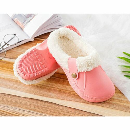 Womens Winter Warm Clogs Slippers Indoor Outdoor Plush House Shoes US