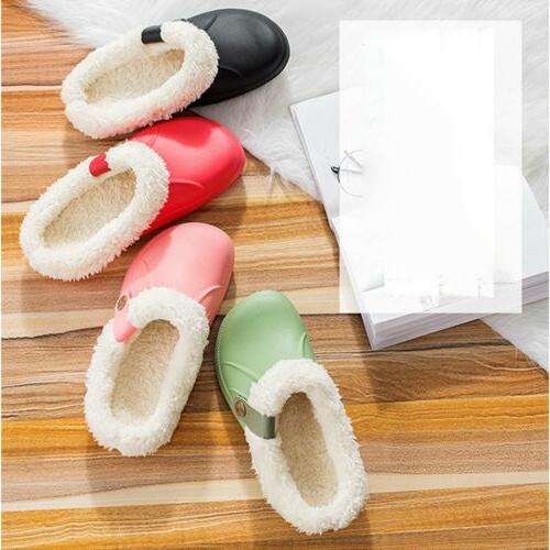 Womens Clogs Slippers Waterproof Plush Shoes US