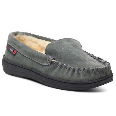 Alpine Yukon Suede Moccasin Slippers Moc Shoes