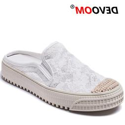Lace Breath Mules Mujer Fashion Summer Women Mules Light Tee