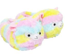 Llama Slippers Alpacasso Plush Alpaca Soft Warm Shoes Fluffy