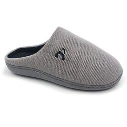 Amoji Men Memory Foam Slipper Slip On House Slipper Shoes In