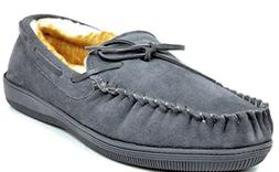 men s fur loafer 01 grey suede