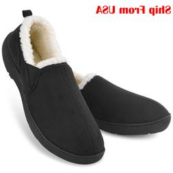 Men's Memory Foam Slippers Wool-Like Comfortable Home House