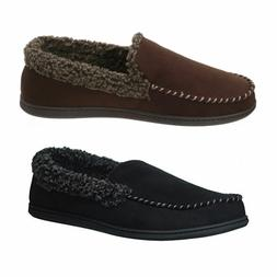 men s microsuede whipstitch clog slippers cofee