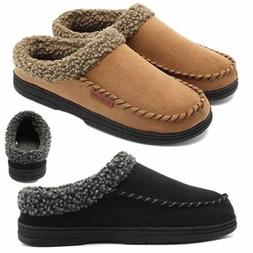 Men's Suede Casual Cotton Loafers Moccasins House Slippers D