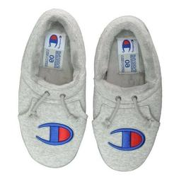 Mens Champion University Slippers Shoes Size 12 Grey Gray Bl