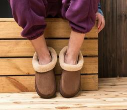 mens winter warm plush lined slippers indoor
