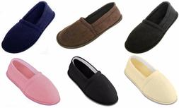 Mens   Womens  Unisex Terry Cloth Moccasin Slippers shoes