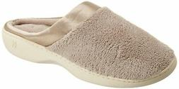 Isotoner Women's Microterry PillowStep Satin Cuff Clog Slipp