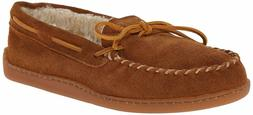 minnetonka men s pile lined hardsole slipper