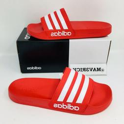 new adilette shower slide men sizes scarlet