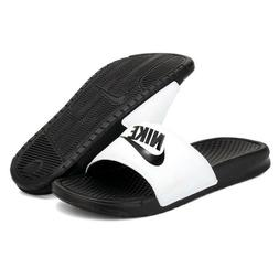 New Nike Banassi JDI 343880-100 White Slippers Men
